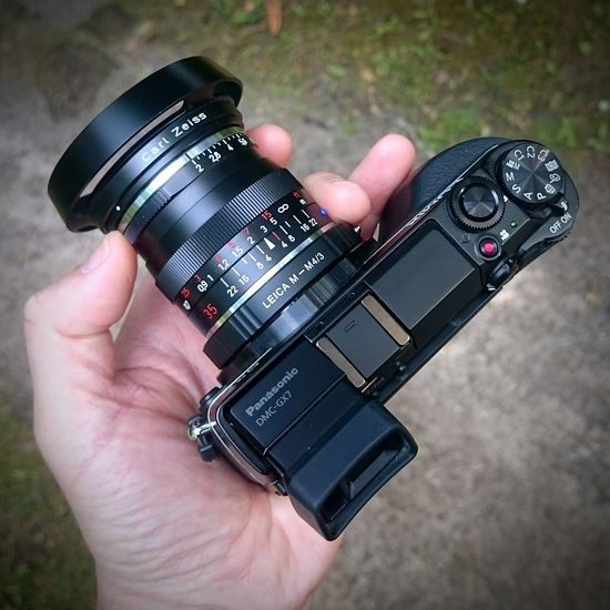 A fantastic Father's Day so far - I stuck my Zeiss ZM Biogon 35/2 on my Panasonic  GX7. A great combination which is surprisingly quick and enjoyable to use, especially shooting at f2! Shootwideopen Microfourthirds M43