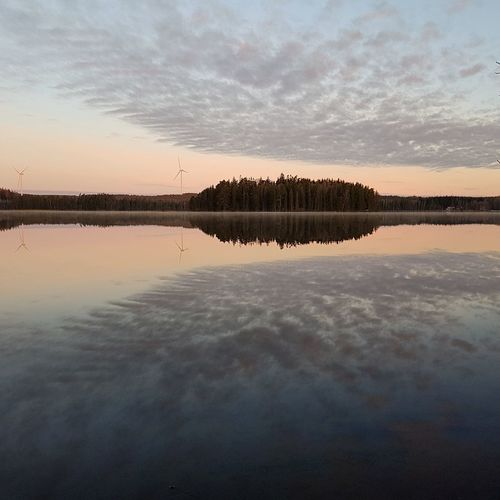 Big mirror Reflection Water Sunset Lake Sky Nature No People Arrival Cloud - Sky Outdoors Landscape Extreme Weather Natural Parkland Day