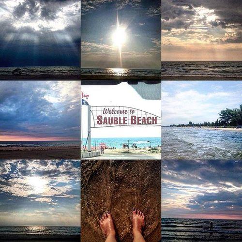 😎🌂👒👙☀️ Saublebeach Owensound Ontario Canada Clouds Sun Sky Beach Beachlife Sunburnt Canada Canadiansky Mycanadiansky