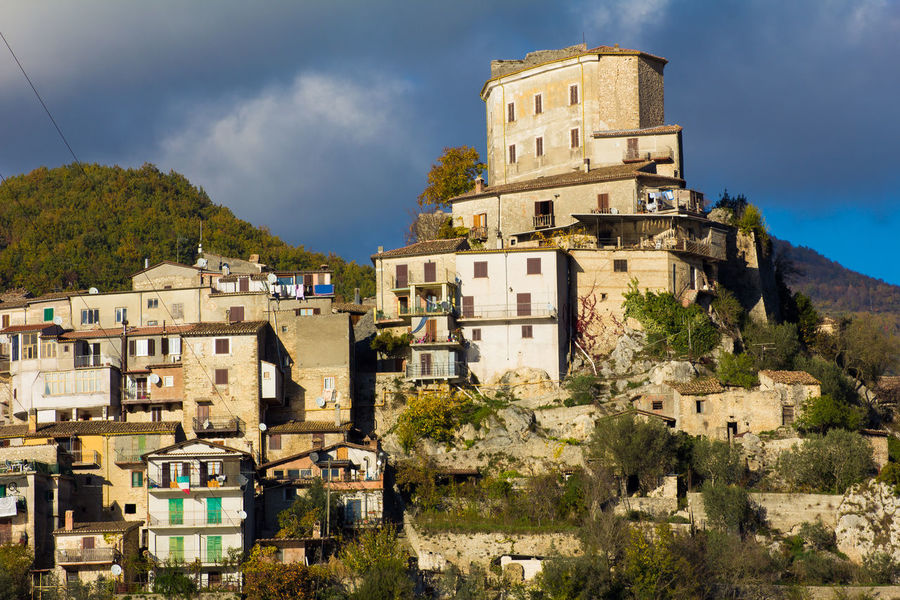 Castel Di Tora Cloud Travel Turano Apennines Architecture Building Exterior Built Structure Cloud - Sky History House Italy Lago Del Turano Landscape Lazio Medieval Mountain Nature Old Residential District The Past Town TOWNSCAPE Travel Destinations Village