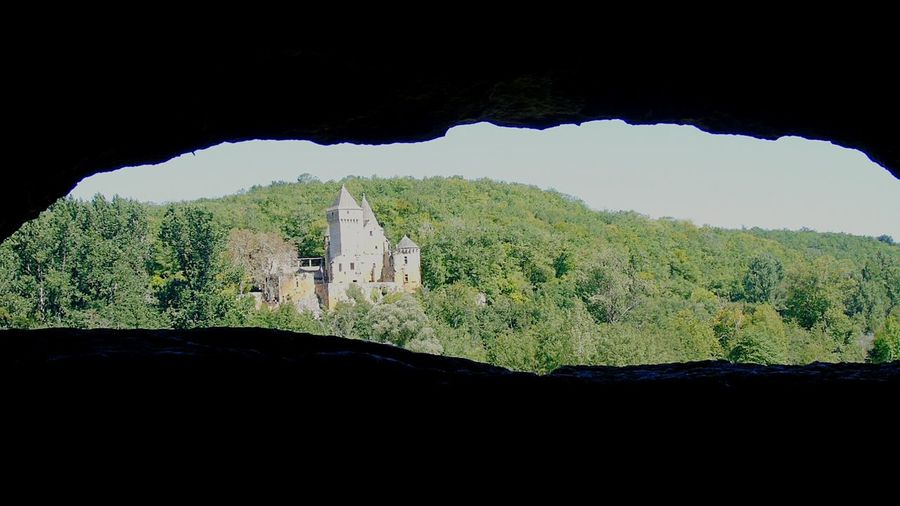 Landscape Medieval Chateau De Commarque Castle Nature View Rock Fortified Wall Fort