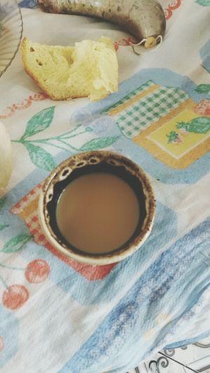 Eating Coffee