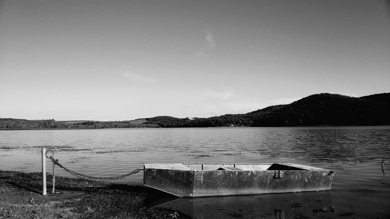 Lake Water Nature Sky No People Beauty In Nature Landscape Day Black & White Hungary Lonliness