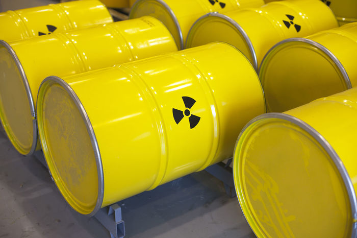 Radioactive waste barrels. Nuclear waste disposal. Atomic Contamination Disposal Drum Nuclear Power Nuclear Waste Radioactive Materials Sign Atomic Bomb Barrel Bomb Danger Hazardous Materials Nuclear Energy Nuclear Fuel Nuclear Waste Pollution Problem Radiation Radioactive Material Radioactive Waste Radioactivity Storage Uranium Yellow Color