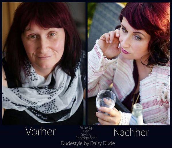 Ulla 1.0 before & after Makeup Portrait Work Woman Alldude
