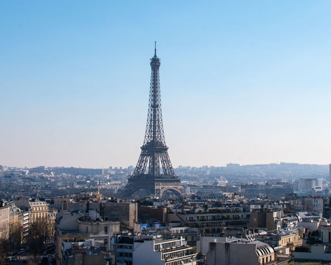 Architecture Building Exterior Built Structure Check This Out City Cityscape Day Eiffel Tower Eye For Photography Eye4photography  EyeEm Best Shots EyeEm Gallery EyeEmBestPics Flying High Hello World No People Outdoors Paris Sky Sunset Tour Eiffel Tower Travel Travel Destinations Urban Skyline