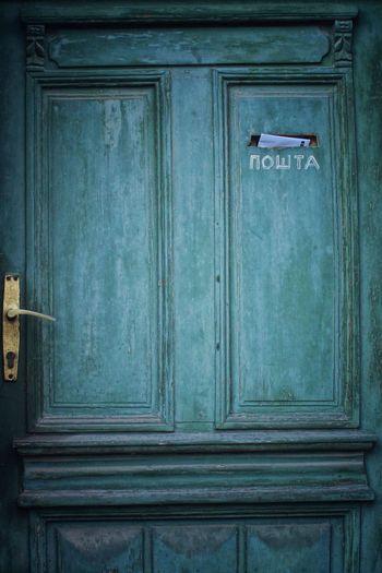 Full frame of wooden door