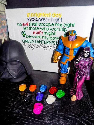 Crossstitch Darthvader Greenlantern Greenlanternoath Greenlanternrings Ladydeath Multi Colored Thanos