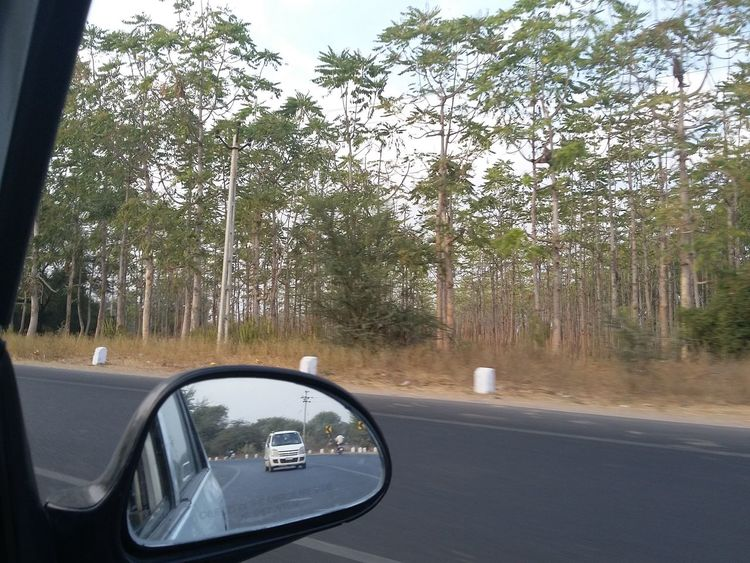 Car Driving In My Car Journey Nature Photography Road Side-view Mirror Speed Taking Photo While