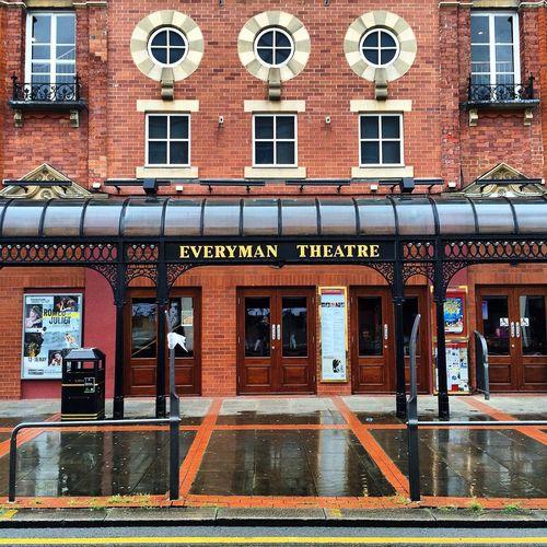 Everyman Theatre Architecture Building Cheltenham Rainy Façade Brick Entrance Historic