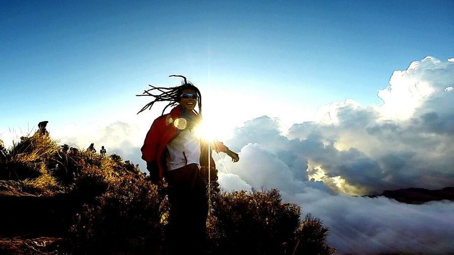sun n' my dreads! 👌 Dreadlocks Sun_collection Sky And Clouds Jumpstagram Jah bless Nature Mt. Apo Mountaineering My Hobby That's Me Fresh Air