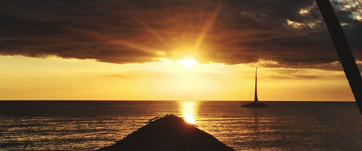 Sea Water Sunset Horizon Over Water Sun Orange Color Nature First Eyeem Photo
