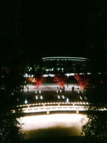 Illuminated City Event Celebration Sky