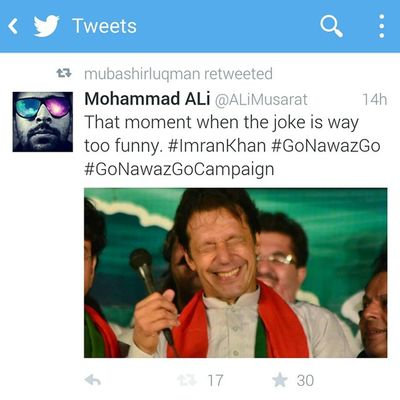 MubasherLucman appreciates what I say. ImranKhan Pti GoNawazGoCampaign