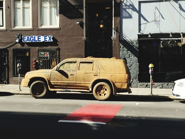 Car in San Francisco Car Mad Max Dirt Off Roading Funny City