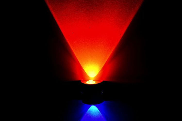 Red Blue Lighting Red Light Bulbs Darkness And Light Rayoflight