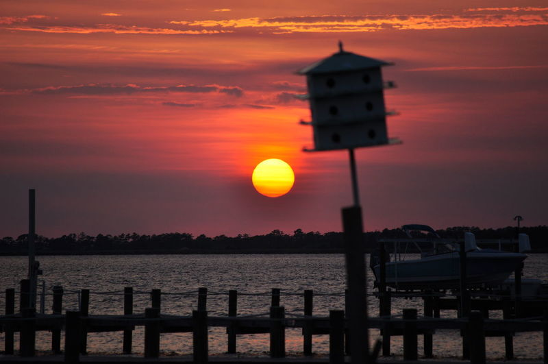 Amazing View Beauty In Nature Check This Out Nature OBX Orange Color Outer Banks, NC Scenics Sunset Tranquility Water