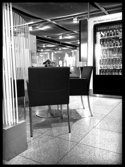 Waiting at Air Berlin Lounge Waiting
