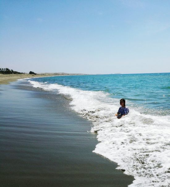 Sea Beach Horizon Over Water Sand Wave Water Clear Sky Day One Person Nature Sky Outdoors Beauty In Nature People One Woman Only Only Women Beach Day Beach Time Saltwater Resist