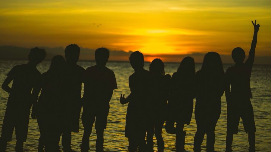 Telling Stories Differently Summer Summer Vibes Beach Life Sunset Friendship Goals Friends Forever Friends Seascape Shilouette Just Us Beaching Vitamin Sea