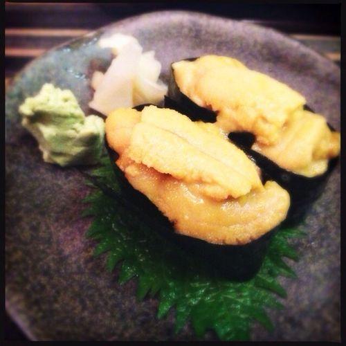 Japanese Food Sushi Food Porn In My Mouf Sushi Uni ( Sea Orchin )