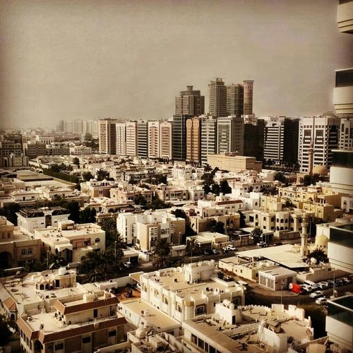 Abu Dhabi. View from the 14th floor.