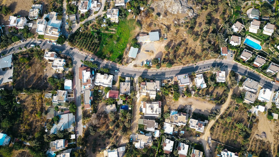 Bodrum Drone  Turkey Aerial View Architecture Building Exterior Built Structure City Cityscape Day Drone Photography Gümüşlük High Angle View House No People Outdoors Residential Building Road Roof Street Town Tree Village