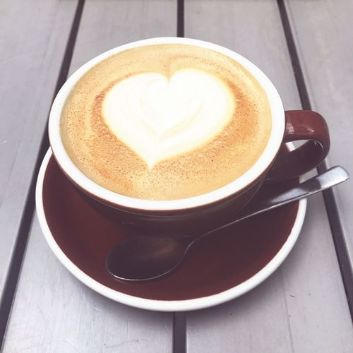 Coffee Lover Coffee Drink Cup Food And Drink Coffee Cup Coffee - Drink Refreshment Mug Hot Drink Froth Art Heart Shape
