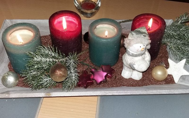 18.Dezember Nice 4 Advent evening at all! Adventszeit Adventscalendar Adventskalender Adventskranz Adventsgesteck 4advent