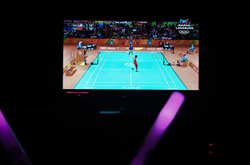 Badminton Badminton Match Close-up Excitement Illuminated Live Malaysia My Point Of View Olympic 2016 Olympics Rio 2016 Olympics Rio2016 SUPPORT Supporters Live Show 2016 Go For Gold Go Malaysia World No.1 Sports Indoor Sport Supporter Watching Tv Malaysia Boleh Supporting My Team
