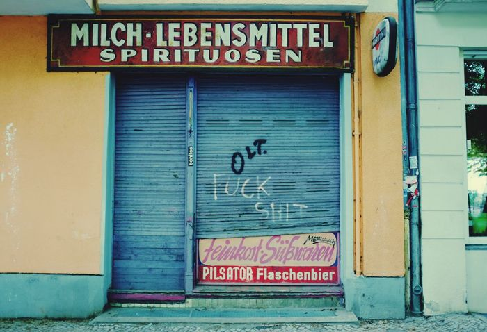 Old times. Store out of business... Taking Photos Abandoned Buildings Shop Shop Signs Neukölln Schillerkiez