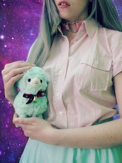 Pastel Colors Galaxy Alpaca Mint Cute KAWAII Kawaii&Cute Kawaiigirl Lips Girl Beauty Beautiful Day Pastelgirl Pastelgoth