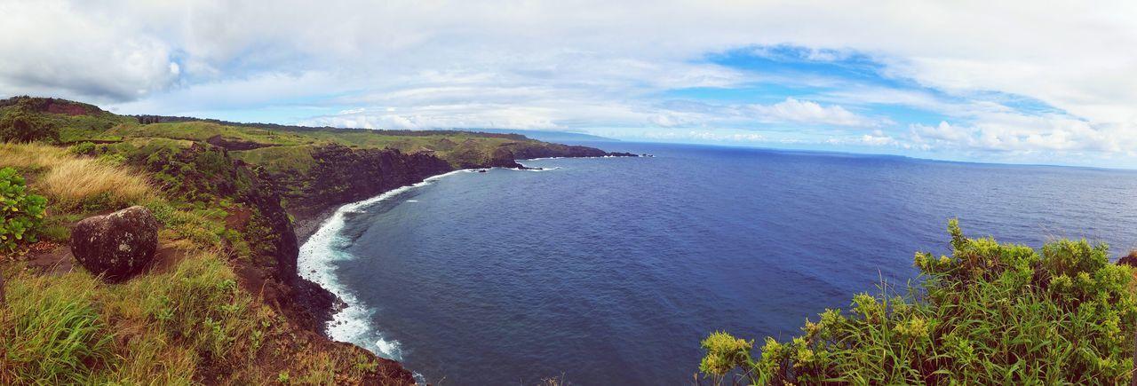 Hawaii Maui Beach Beautiful Day Nature Cliffs Water