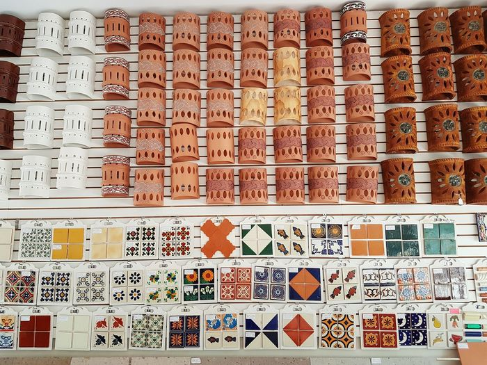 Collection of tiles and craft