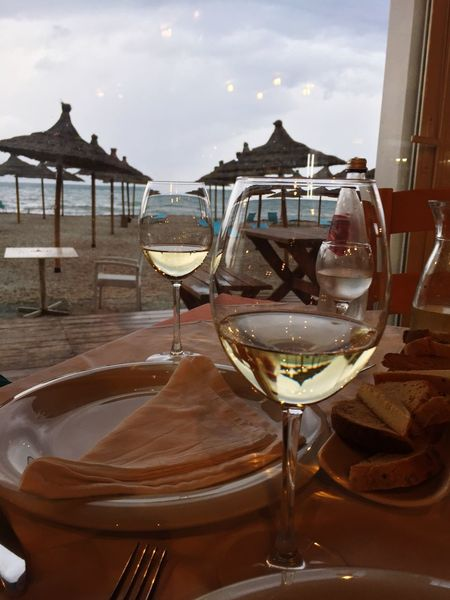 Wineglass Table Food And Drink Wine Alcohol Drink Restaurant Drinking Glass Alcoholic Drink Sky No People Food Refreshment Outdoors Close-up Freshness Day Water