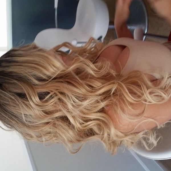 Beautiful blonde curls. Chantelzales has such thick hair... PerfectWaves Hair Blondehairdontcare blowdry blowout curls hair hairstyle hairphoto HairInspiration Hollywood westhollywood