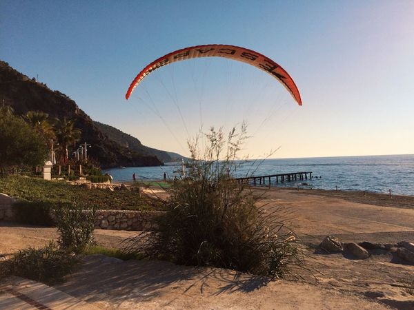 Sea Scenics Adventure Extreme Sports Parachute Nature Beach Day Paragliding Leisure Activity Outdoors Water