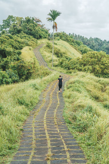 Green Color Direction Running Runner Running Woman Bali Workout Exercising New Beginnings