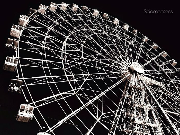 Supernormal Observation Wheel Black & White Urban Geometry Welcome To Black