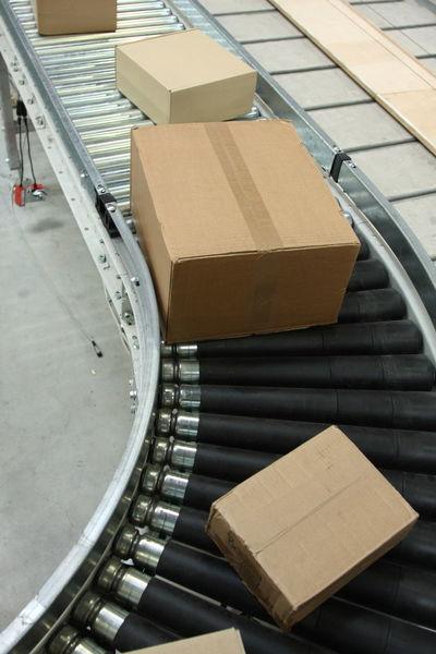 Conveyor Belt Industrial Industry Logistics Transportation Box - Container Cardboard Box Conveyor  Freight Freight Transportation Indoors  No People Package Parcel Parcels Warehouse