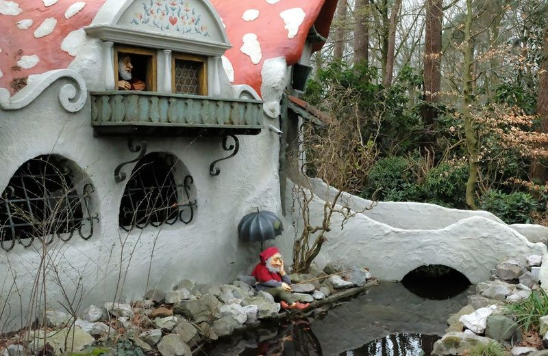 Attraction theme park the Efteling, Kaatsheuvel, the Netherlands. Plant Architecture Built Structure Day Nature Building Exterior No People Building Outdoors House Tree Water Wall - Building Feature Front Or Back Yard Growth Red Window Solid Wall