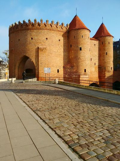 Barbican tower. Warsaw, Poland History Architecture Built Structure Castle Fort Tower Outdoors Day Old Town Warsaw Warsaw Poland Warsaw Old Town Fortified Wall