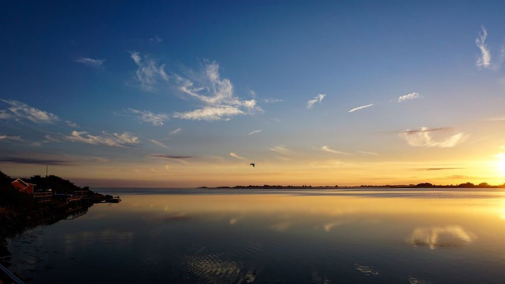Vacations Germany Fehmarn Sky Water Sunset Tranquility Scenics - Nature Reflection Beauty In Nature Cloud - Sky Tranquil Scene Nature Sea No People Idyllic Waterfront Outdoors Non-urban Scene Horizon