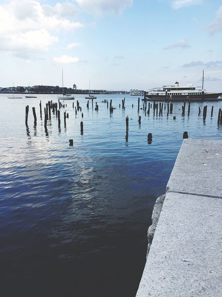 There's Just Something That Draws Me To The Water Relax Waters Edge Boston Airport View Boston Harbor Long Wharf Yatch Hidden Gems  Home Is Where The Art Is Water Sea And Sky Cool Tones
