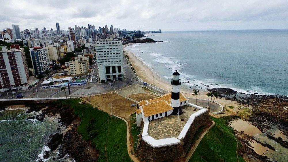 Farol da Barra! Bahia Dronephotography Beach Travel Destinations Sea High Angle View Outdoors Sky Salvador Bahia DJI Phantom 3 Professional Phantom 3 Salvador