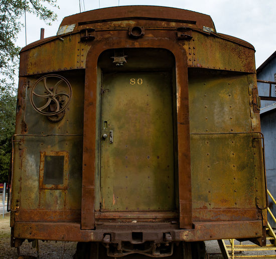 Abandoned Damaged Deterioration Obsolete Old Old-fashioned Railroad Run-down Rusty Steam Train Transportation Weathered