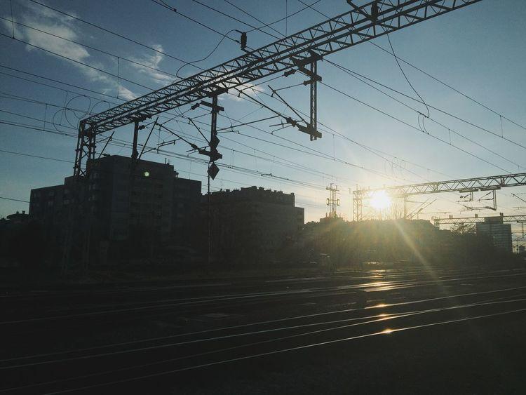 Farewell lanes... Railroad Railway Train Sunset Streetphotography Bobantv