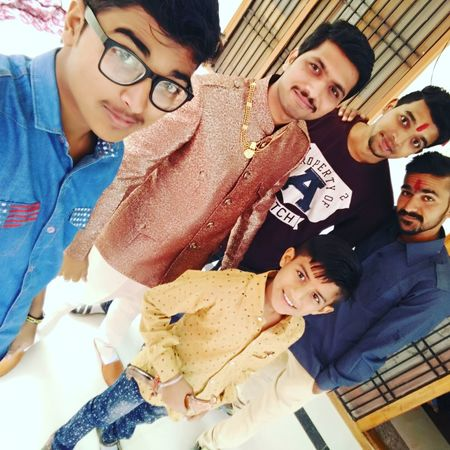 Selfie with brothers Happiness Royal Rajasthan Group Of People Dungarpur Royal Dungarpur