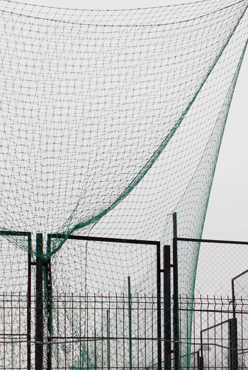 Abstract Construction Day Fence Gray Green Net No People Outdoors Sky