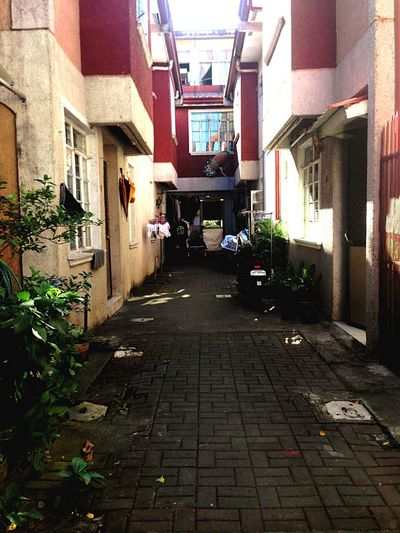 Mobile photography Messy Look Alley Sunlight Footpath Residential District